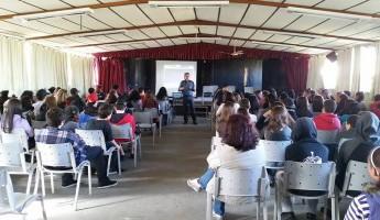 Coordenador do Projeto Quintais palestra na E. E. E. M. Areal
