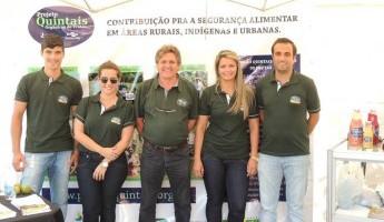Equipe do Projeto Quintais Orgânicos de Frutas participa da Expoagro Afubra 2016.