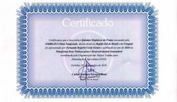 Projeto Quintais recebe Certificado da FAO