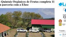 Projeto Quintais Orgânicos de Frutas completa 11 anos em parceria com a Efasc