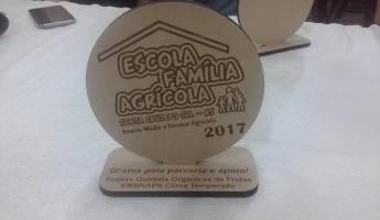 Projeto é premiado pela EFASC